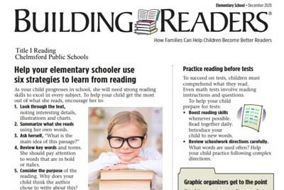 Chelmsford Public Schools Building Readers Newsletter