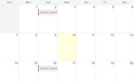 Chelmsford School Committee Calendar