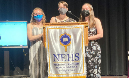 Chelmsford high School National English Honor Society 2021 Induction