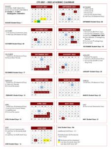 Chelmsford Public Schools 2021-22 Academic Calendar