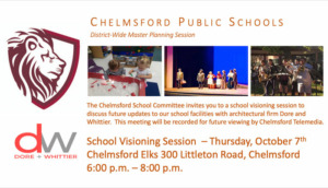 Chelmsford Schools Visioning Session @ Chelmsford Elks Lodge #2310